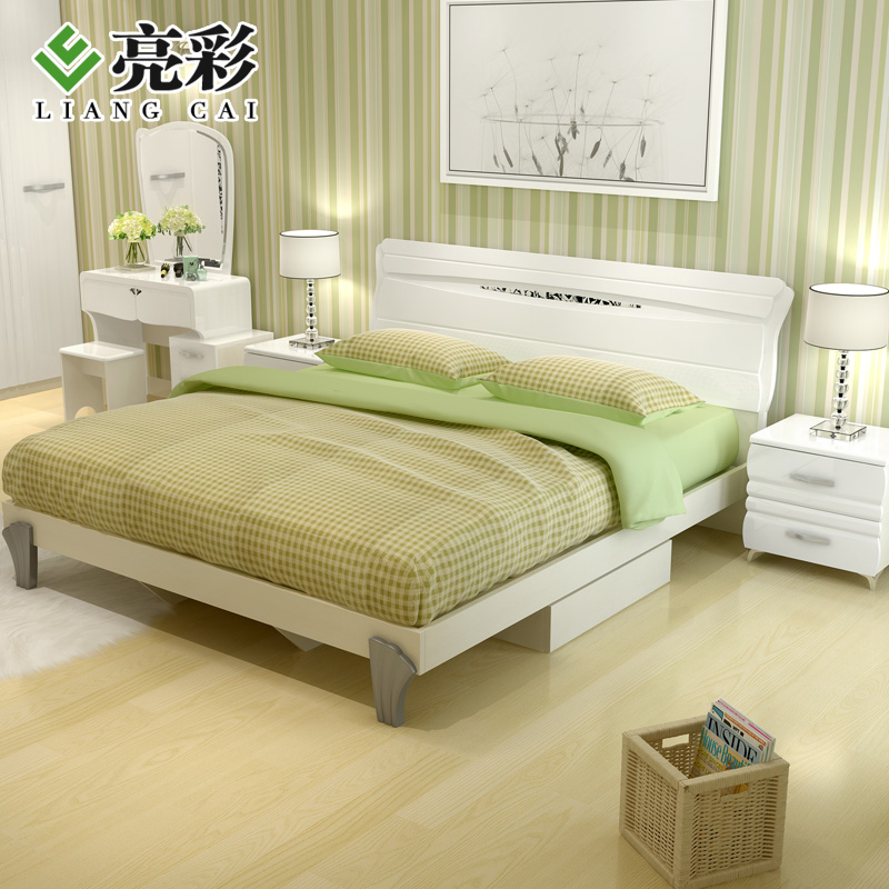 Brightly colored plate bedroom furniture 1.5/1.8 m double bed bedroom paint furniture suite suite portfolio