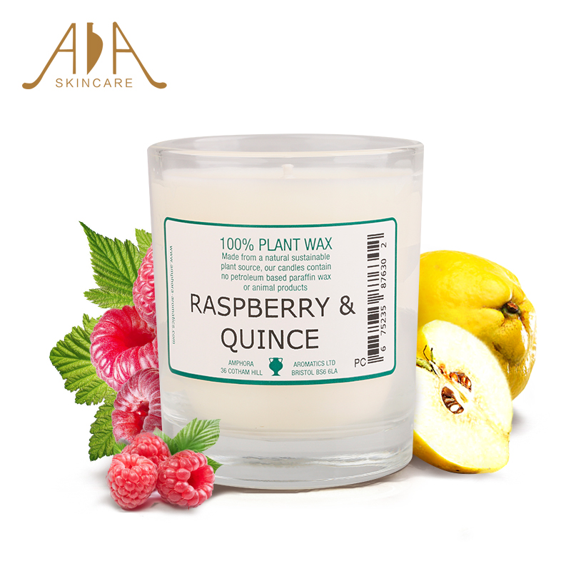 British aa network quince raspberry plant essential oils aromatherapy candles candles 40 hours