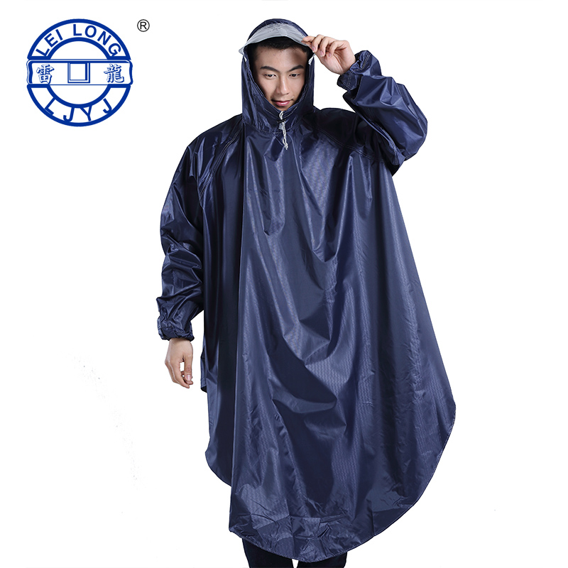 Brontosaurus double hat for men and women thicker battery car bike transparent raincoat poncho adult riding raincoat