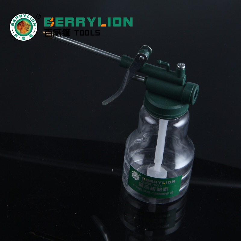 Budweiser lion mention try transparent high pressure machine oiler oiler oiler oil pressure lubrication gun oiler plastic machine oiler oiler