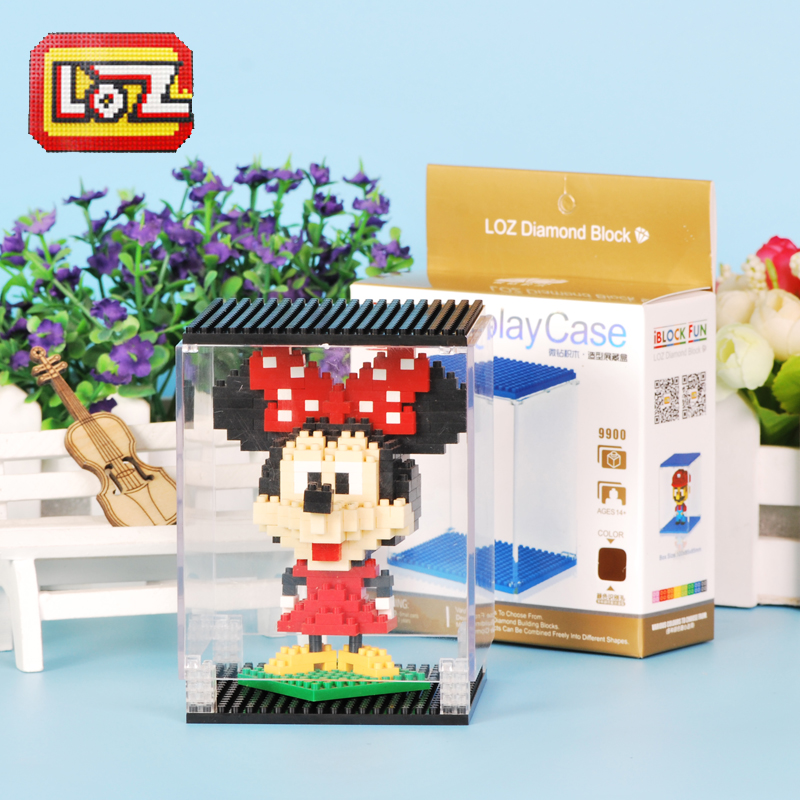 Building blocks loz mini micro micro particles series of special display box transparent box toy building blocks assembled