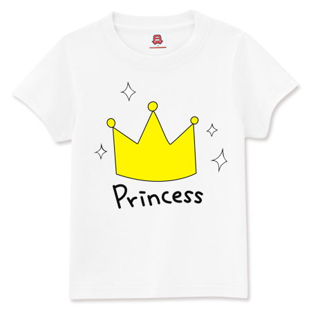 Bus dream summer new korean version of the cartoon style small crown princess pattern short sleeve t-shirt female