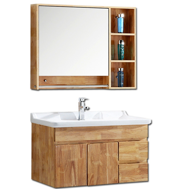 Get Quotations · Cadbury Guardian Oak Wall Cabinet Bathroom Cabinet Mirror  Cabinet Lockers Modern Minimalist Bathroom Cabinet Bathroom Cabinet
