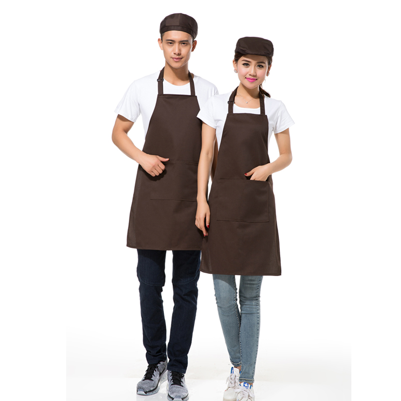 Cafe waiter aprons overalls korean men and women halter apron chef apron apron custom printed logo advertising