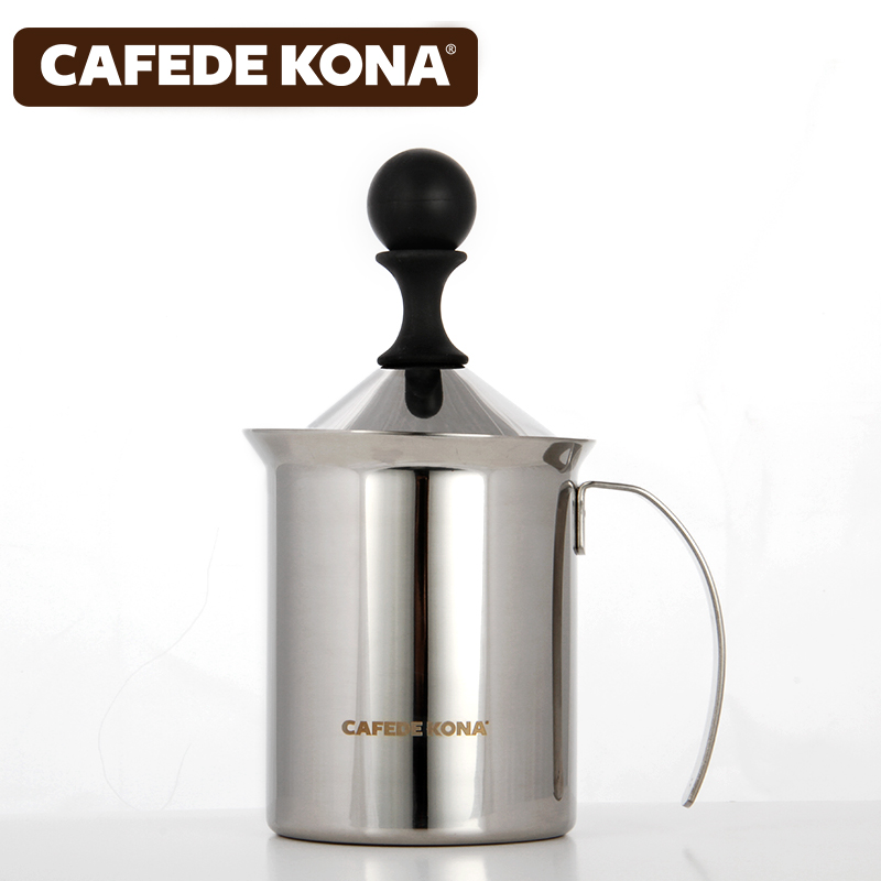 Cafede kona manually foamer whipped cup stainless steel fancy coffee latte milk foam machine