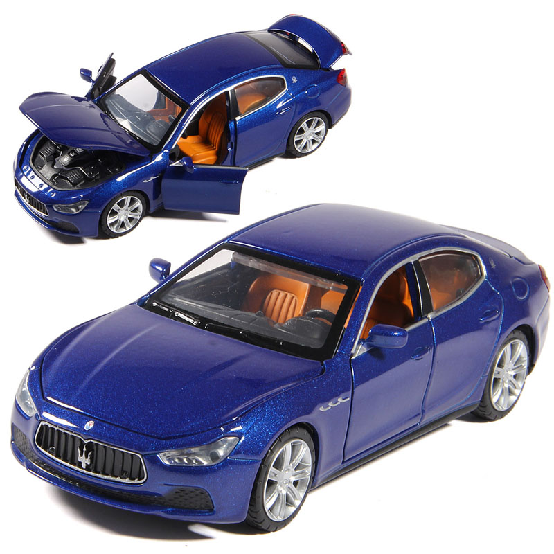 Caipo alloy car model with sound and light back to power cars maserati ghibli 1:32110