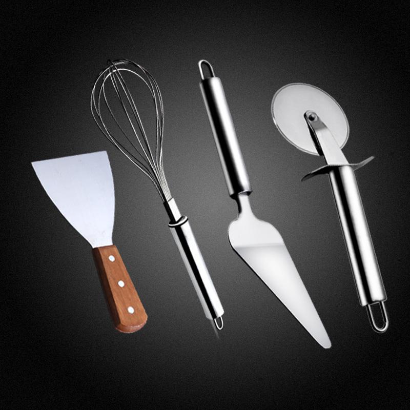 Get Quotations · Cake baking tools pizza wheel cutter blade whisk beveled stainless steel flour shovel shovel pizza shovel