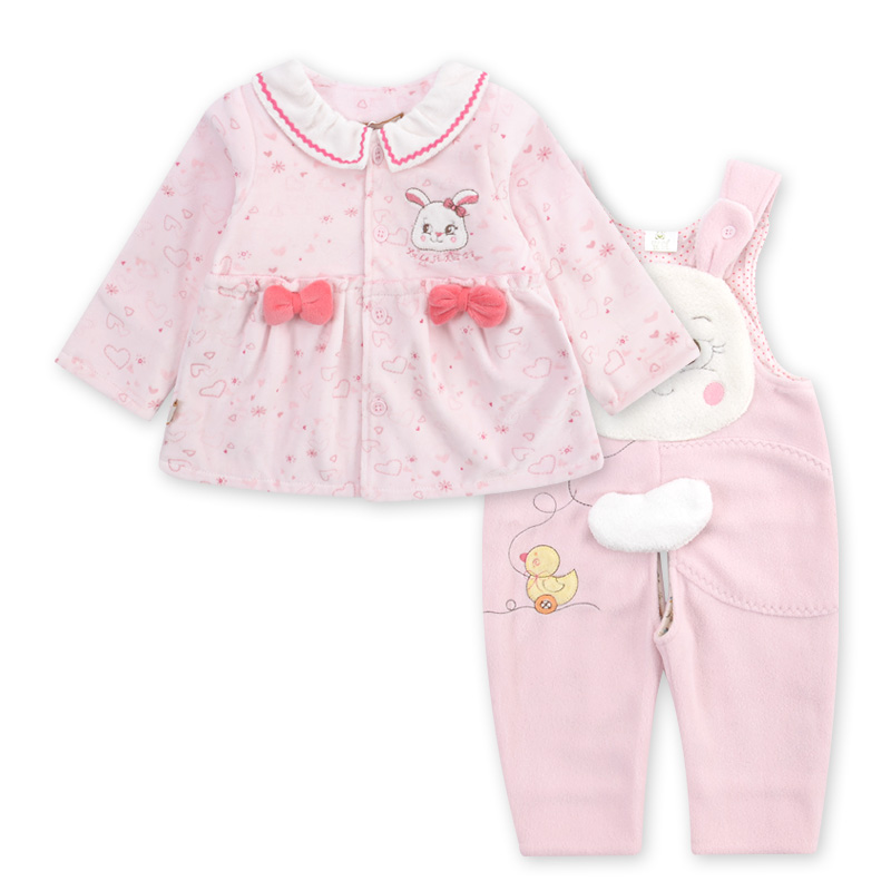 Calbee jerry kids girls spring and autumn new female baby sling pants bodysuit double female baby suit