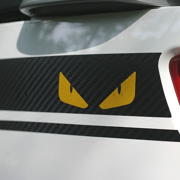 Calf m_1 electric car reflective stickers reflective stickers little devil devil eye stickers