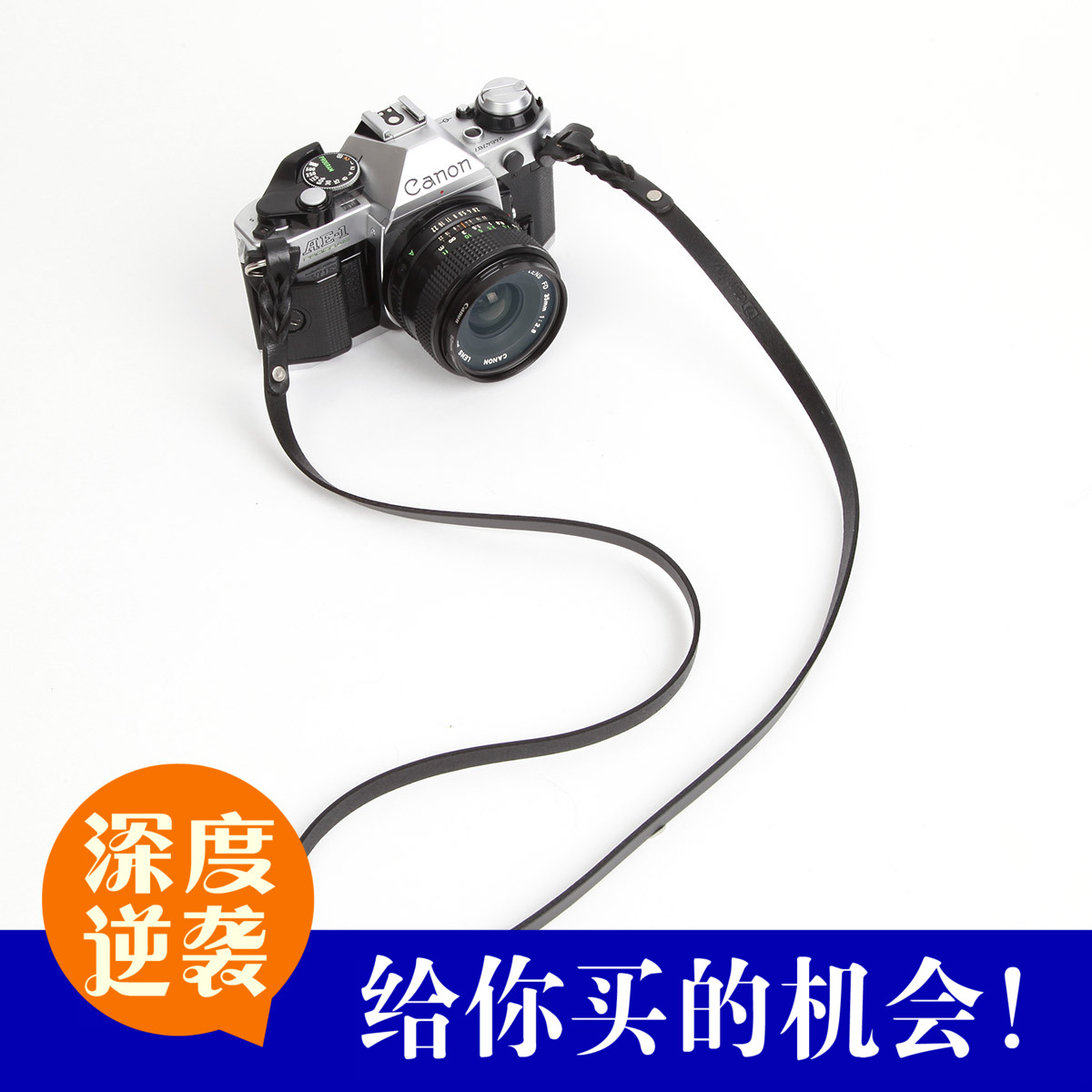 Cam-in leather strap single micro rangefinder camera strap bracelet handmade genuine leather black cam3201
