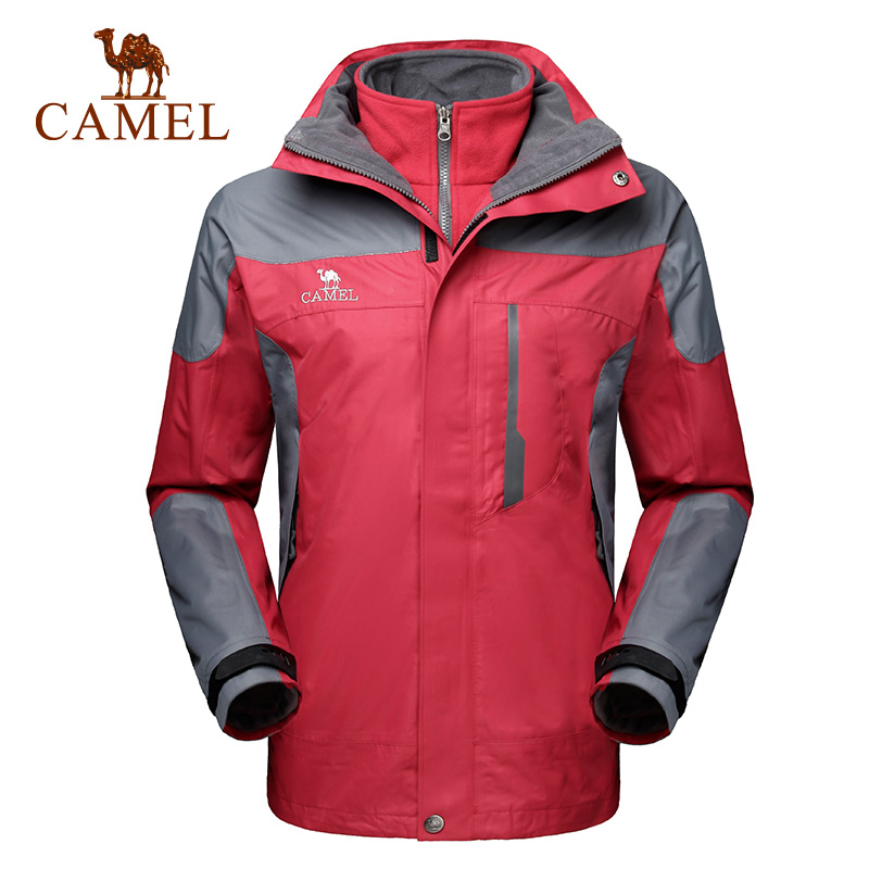 Camel camel men outdoor jackets windproof mountaineering piece triple mens jackets