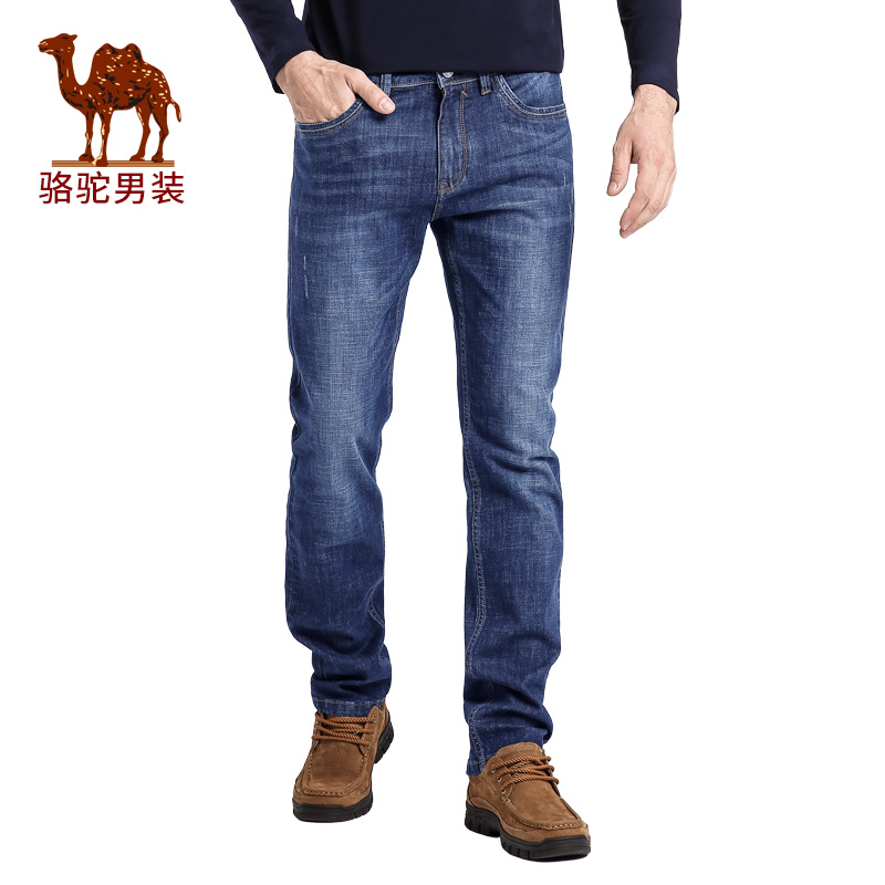 Camel/camel men's 2016 autumn new waist slim feet trousers business casual jeans men