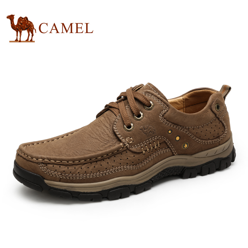 Camel/camel men's first layer of leather casual shoes breathable outdoor sports shoes 2016 spring and autumn new