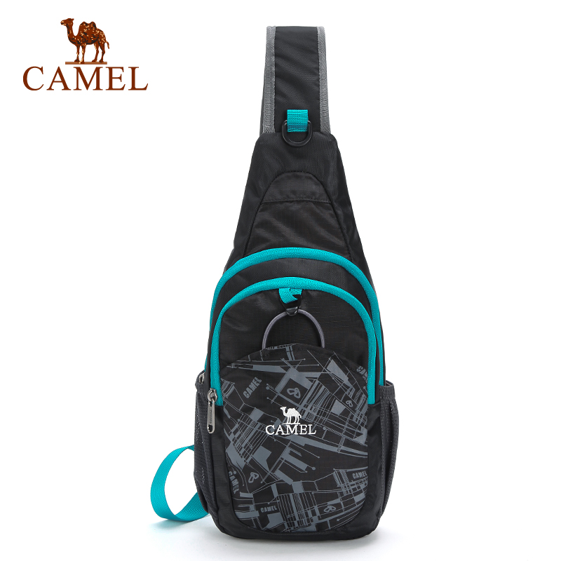 Camel/camel outdoor leisure shoulder bag diagonal package universal adolescent casual outdoor chest pack