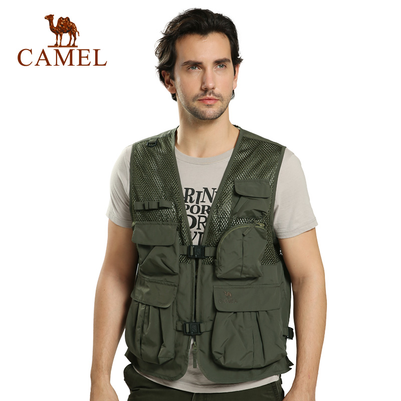 Camel camel outdoor men's casual vest vest spring new models fall influx of outdoor leisure clothing