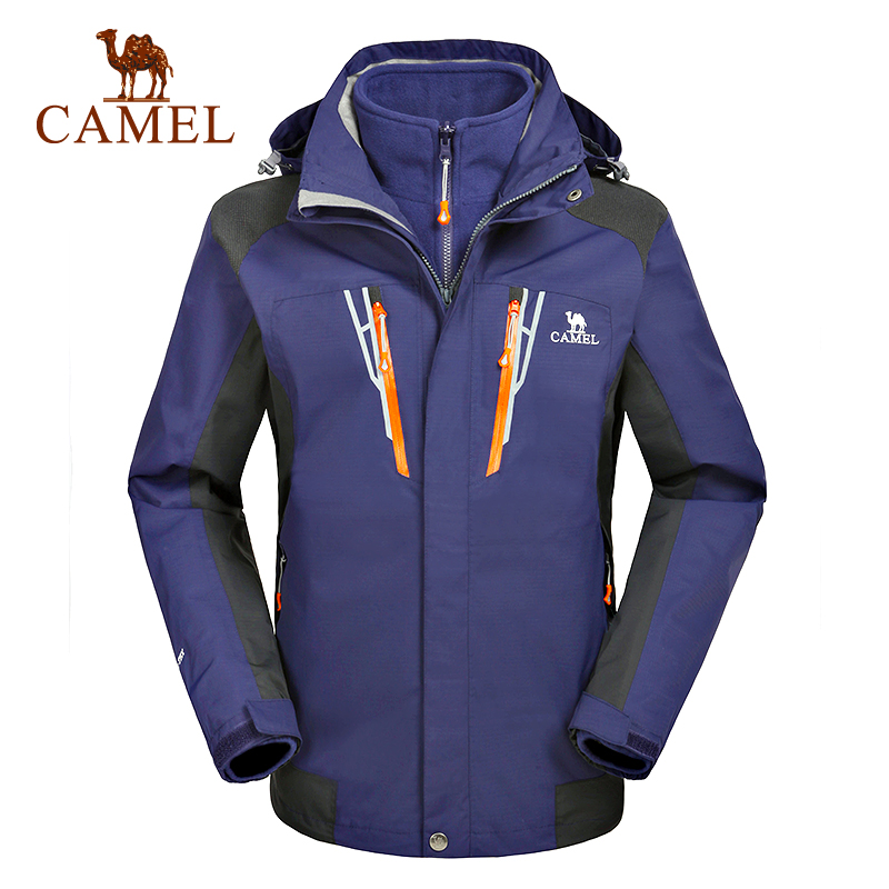 Camel camel outdoor winter jackets piece triple mens jackets waterproof breathable warmth