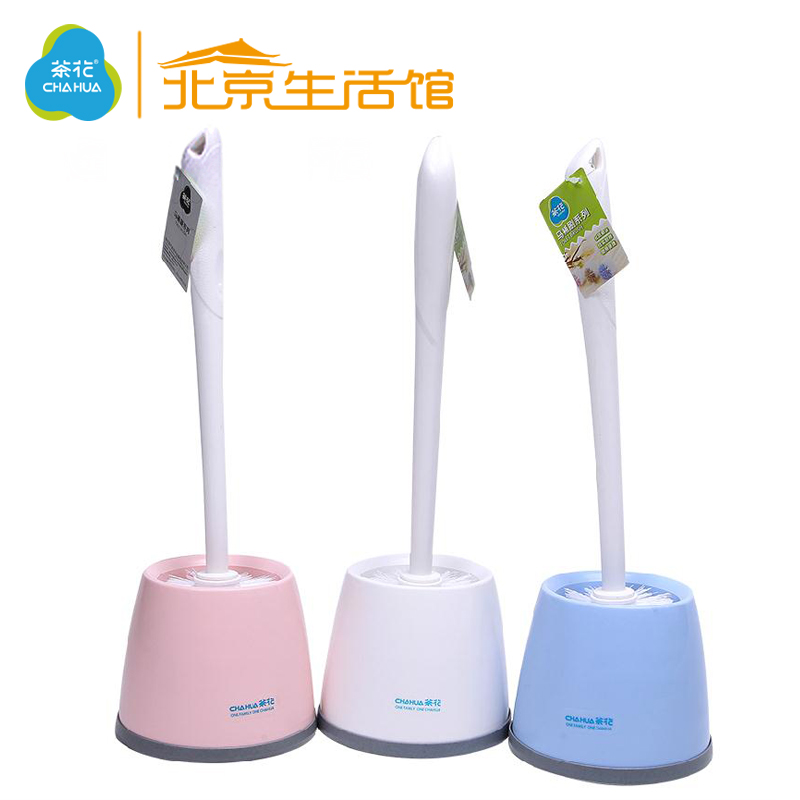 Camellia bathroom verticle lengthened toilet brush toilet suite toilet toilet toilet cleaner decontamination soft bristle brush with a base