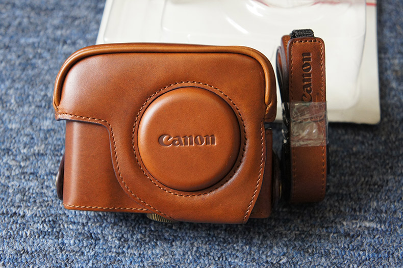 Canon/canon g11 g12 leather camera bag shoulder bag diagonal package digital camera package genuine original