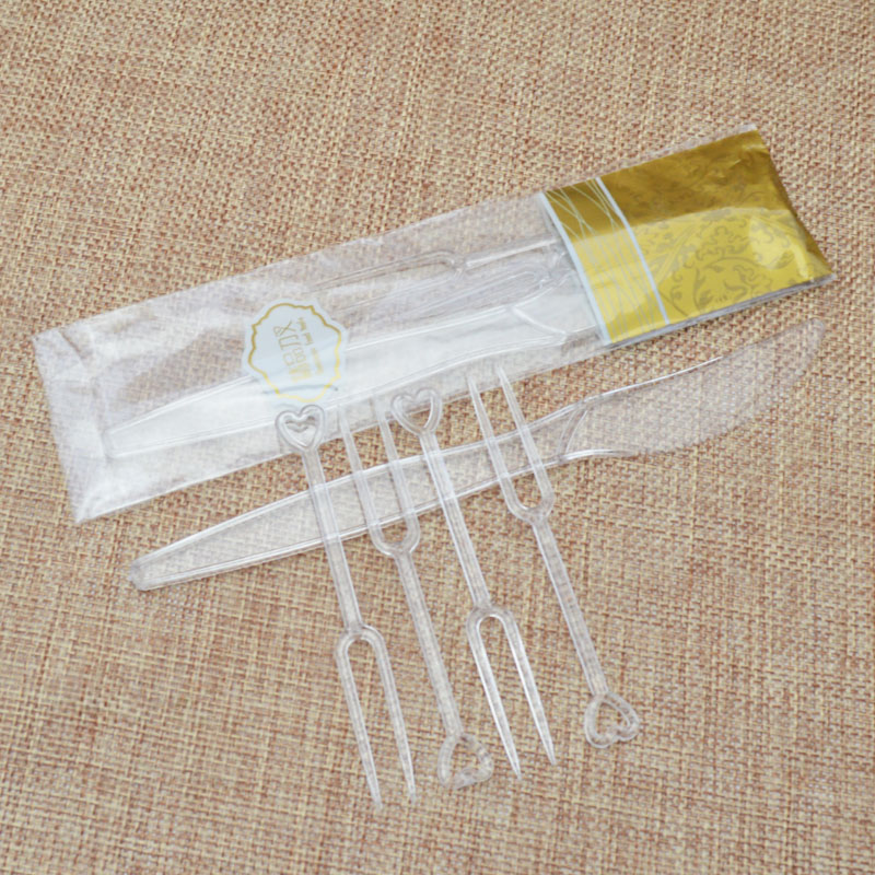 Cantonese snowy momoyama skin moon cake tools plastic moon cake knife and fork combination 1 4 knife fork moon cake packaging boxes