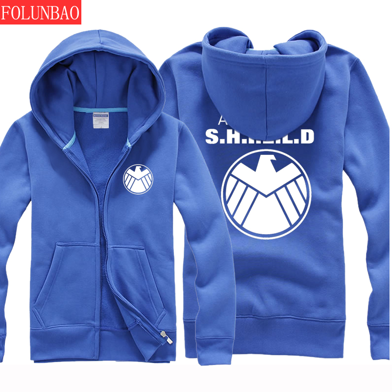 Captain america s.h.i.e.l.d. clothing spring and autumn thin section of middle school students adolescent boys sweater coat korean tidal stream