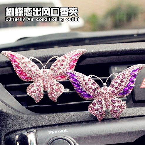 Car outlet perfume car perfume diamond female car decoration car perfume car air conditioning vent clip aromatherapy jewelry