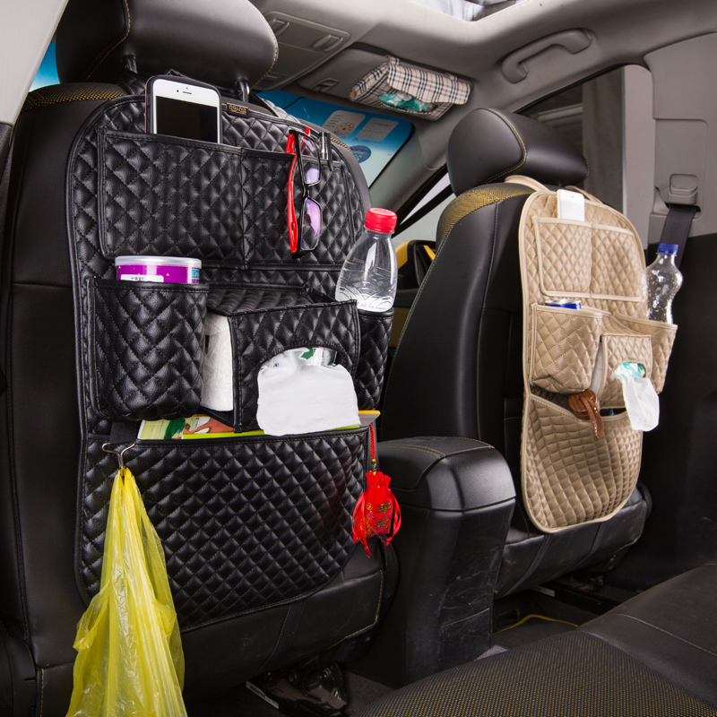 Get Quotations Car Seat Back Pouch Bag Hanging Supplies Multifunction Debris Storage Thick Kick