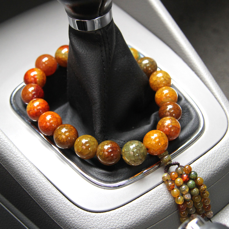 Car stalls pendant opening prayer beads natural agate beads stalls car beads lucky security and peace