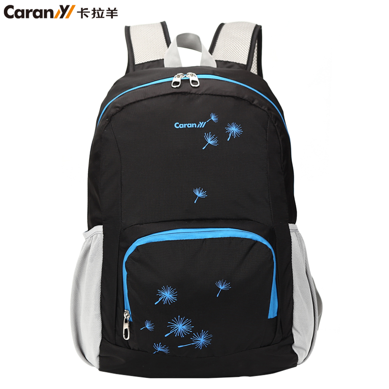 Caran shoulder bag folding travel backpack men and women fashion backpack leisure travel backpack shoulder bag portable tide