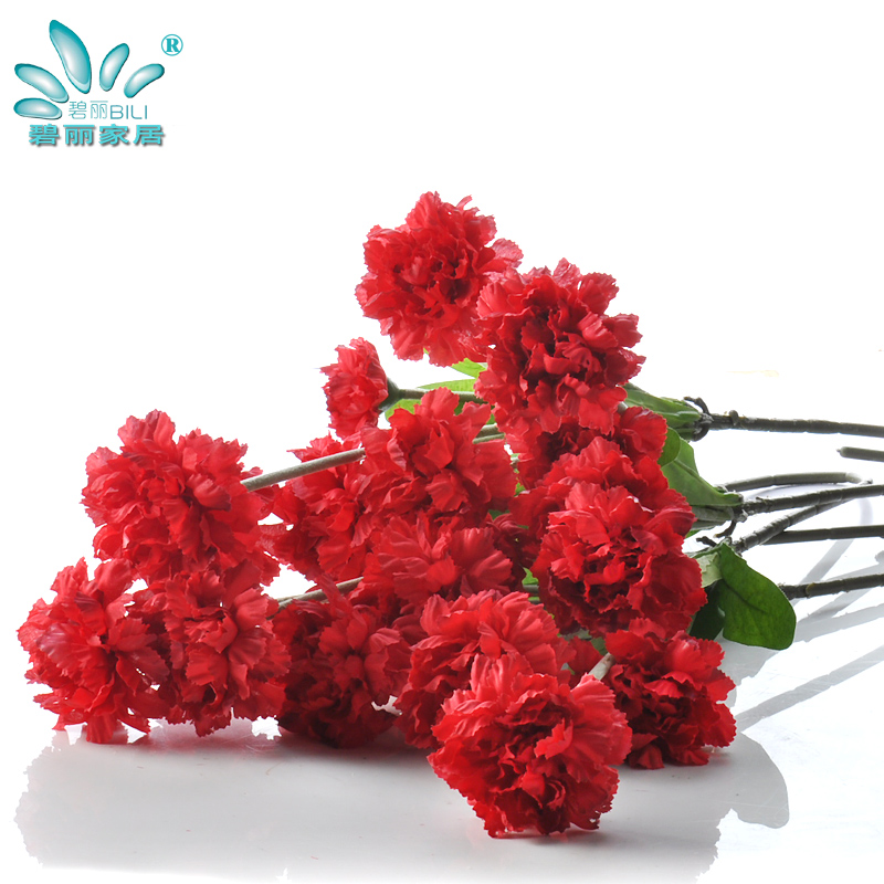 Carnation flower artificial flowers decorative artificial flowers silk flower vase floor living room furnishings decorative artificial flowers