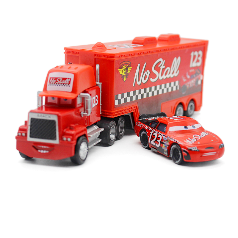 Cars 2 alloy uncle jimmy truck racing car no. 123 children's toy car static model