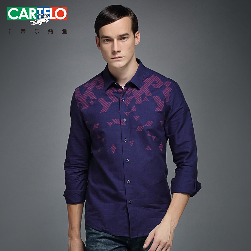 Cartelo 2016 new winter gradually become men's shirts casual shirts for men's business casual fashion coat