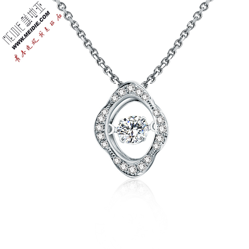Cartier jewelry k white gold diamond pendant necklace pendant female models smart series free shipping