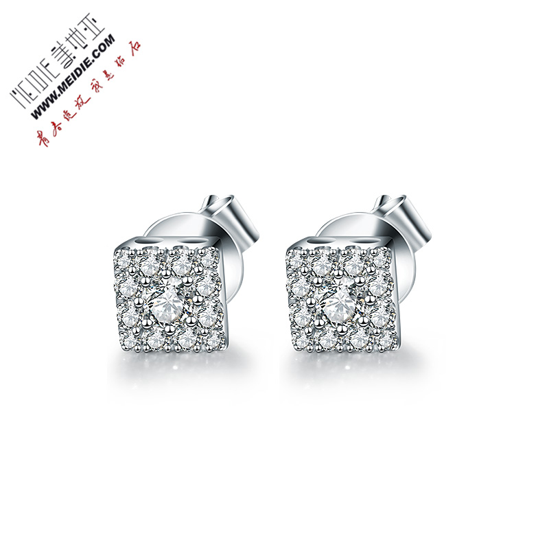 Cartier jewelry white k gold diamond stud earrings female models earrings wedding professionals shop authentic free shipping