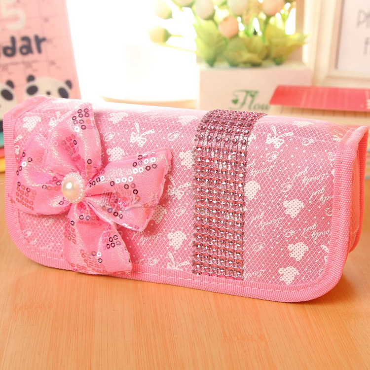 Cartoon creative cute stationery student multifunction large capacity pencil bag korean female canvas pencil case