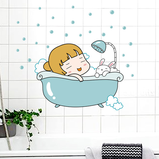 Cartoon creative decorative stickers stickers waterproof bathroom toilet toilet removable wall stickers specials