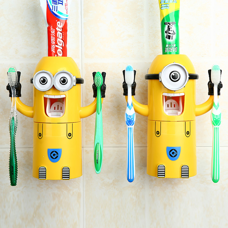Cartoon cute little yellow people wash suits lazy creative home home daily necessities strange new commodity