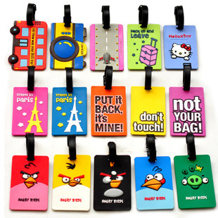 Cartoon fashion travel trolley case suitcase luggage tag travel supplies travel abroad checked luggage tag elevators大学æ