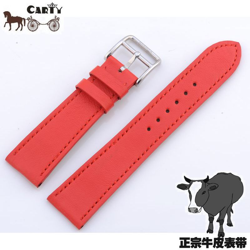 Carty leather watchband applicable hermes leather strap 16 watch parts red and blue 20
