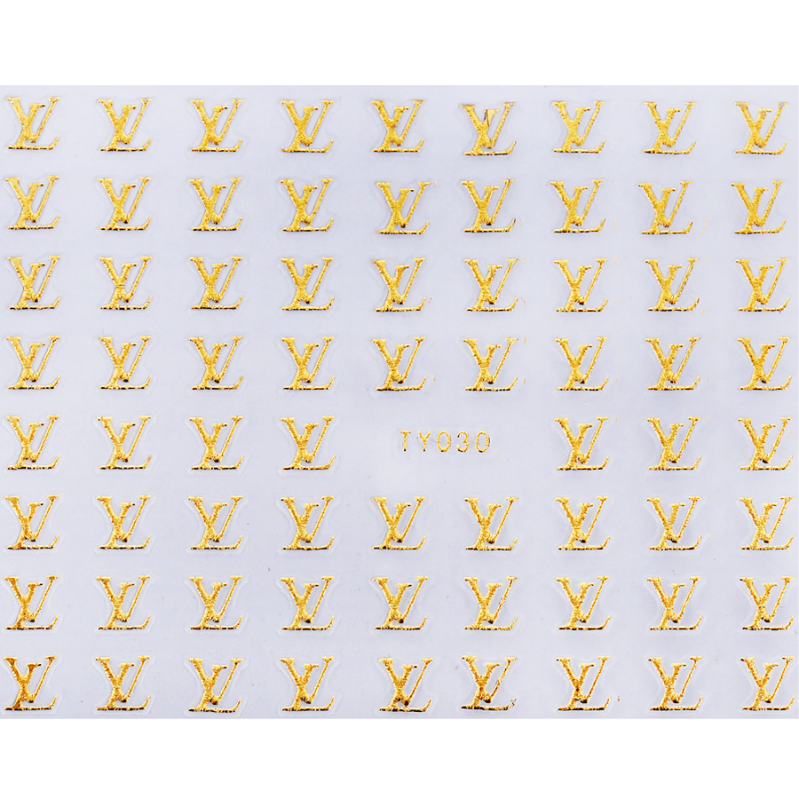 Casa rosa nail jewelry gold metallic nail sticker nail decals nail stickers 3d stereoscopic nail decals