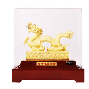 Cashmere alluvial gold twelve zodiac dragon lucky dragon ornaments home decorations living room opening gifts desk ornaments