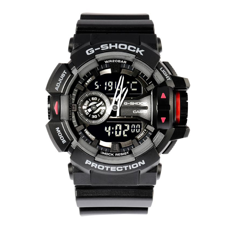 Casio g-shock watches antimagnetic waterproof multifunction dual display electronic watches sports boys ga-400-1b