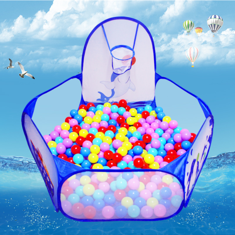 Cast basketball indoor children's folding tent ocean ball pool ball pool baby toys ball ball pool fence play house