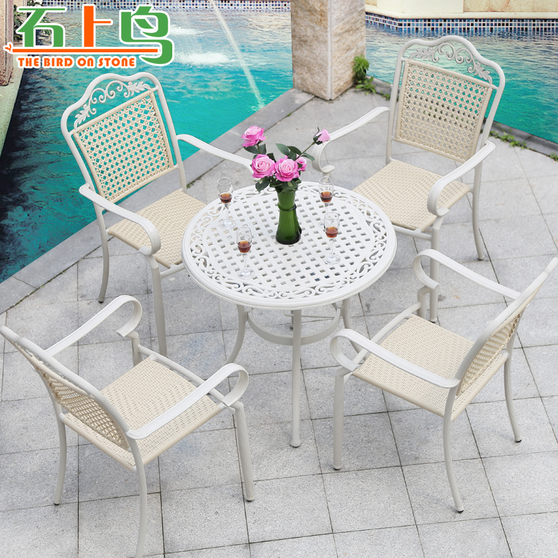 Casual cafe tables and chairs outdoor balcony patio outdoor furniture rattan chairs rattan wicker chair wujiantao combination package
