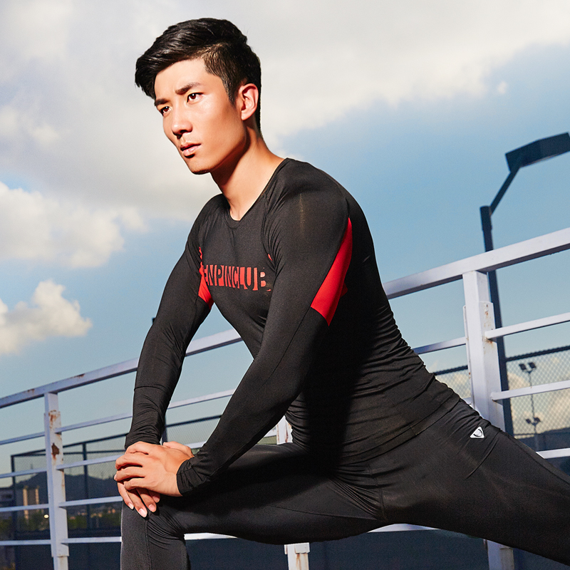 Casual sportswear running fitness suit sports equipment fitness clothing tight and quick couple models sports suit autumn