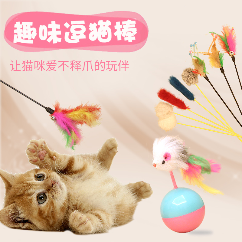 Cat toys funny cat funny cat stick feathers funny cat funny cat toy mouse cat kittens cat playing with a pet cat supplies