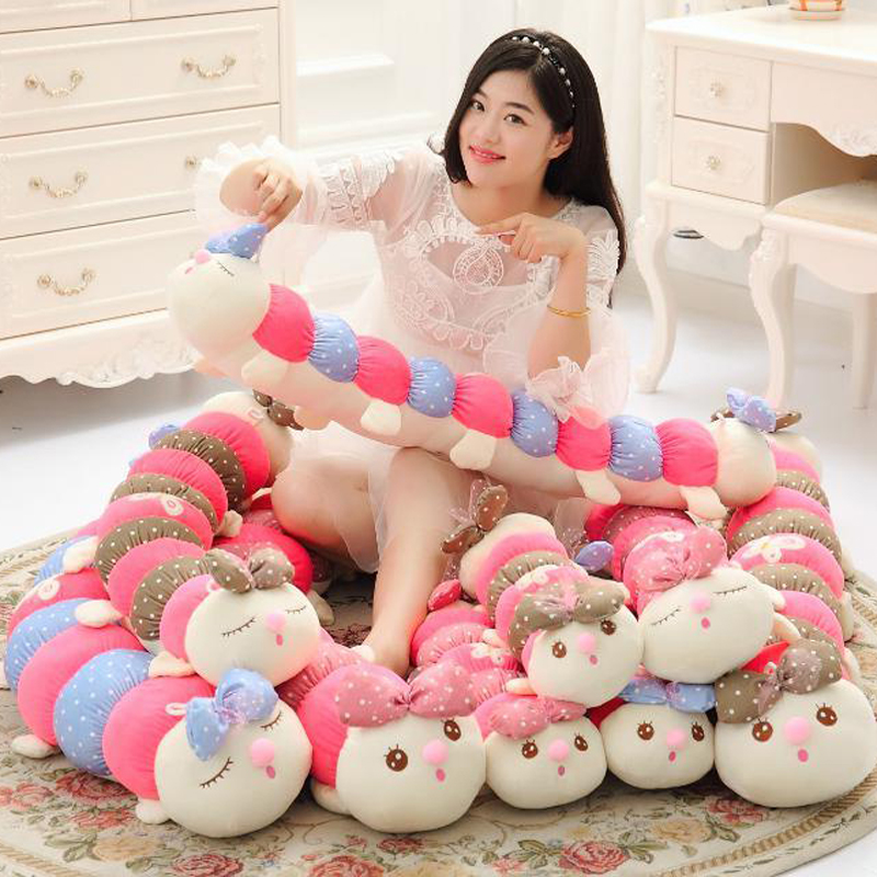Caterpillar sleeping pillow plush toy doll dolls dolls creative valentines day gifts girls