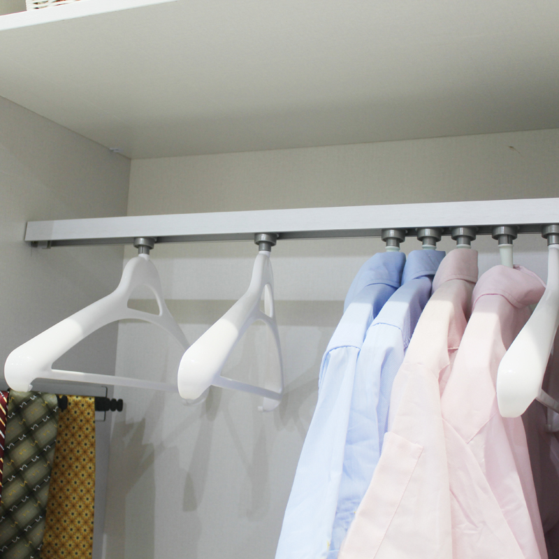 Cayton wardrobe hardware thick card into the installed straight rail track top mounted curtain hanger hanger embedded