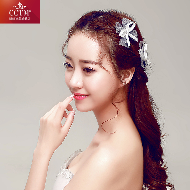 Cctm bride plate made of small hairpin hairpin hairpin wild hair accessories hairpin u accessories red white