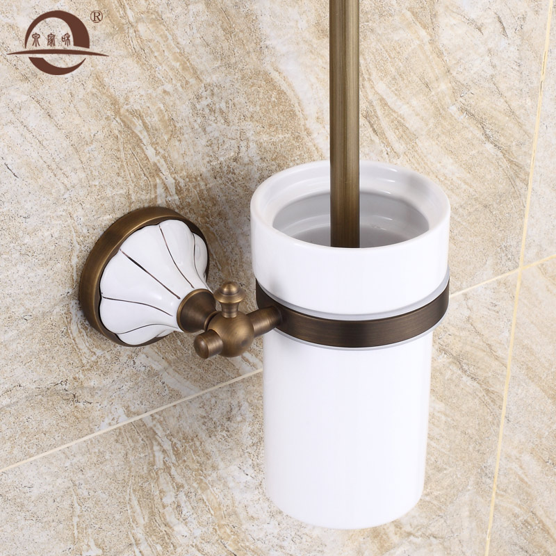 Ceramic antique copper full suite toilet toilet toilet brush holder toilet brush toilet brush holder cup holder bathroom shower toilet