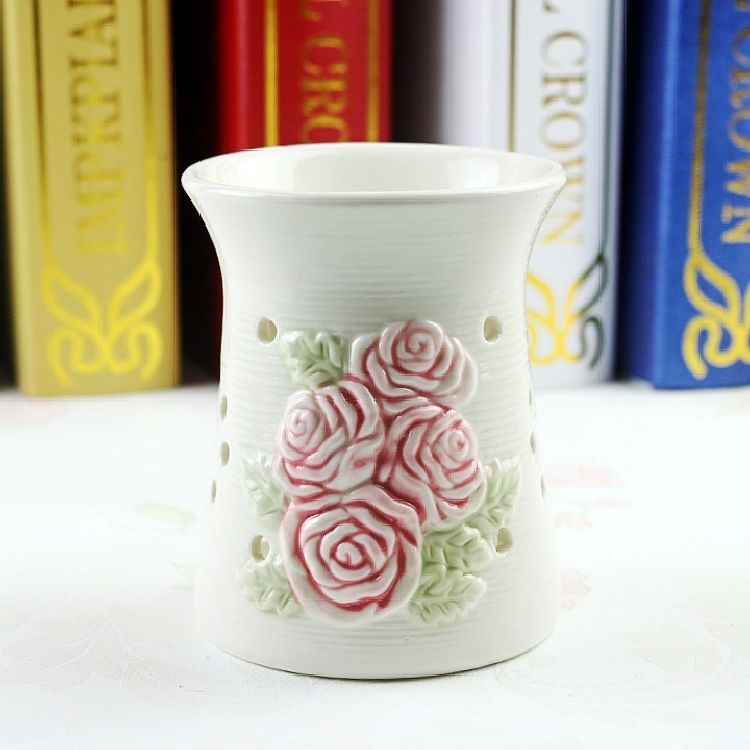 Ceramic candlestick candle fragrance lamp oil furnace vaporizer aromatherapy incense burner stove bedroom bedroom aromatic